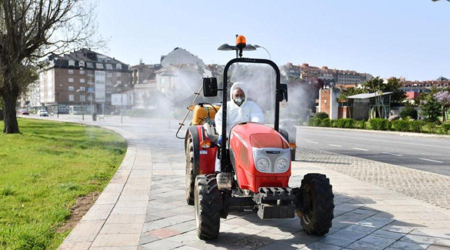 Del campo a la desinfección de calles